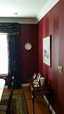 Red painted room