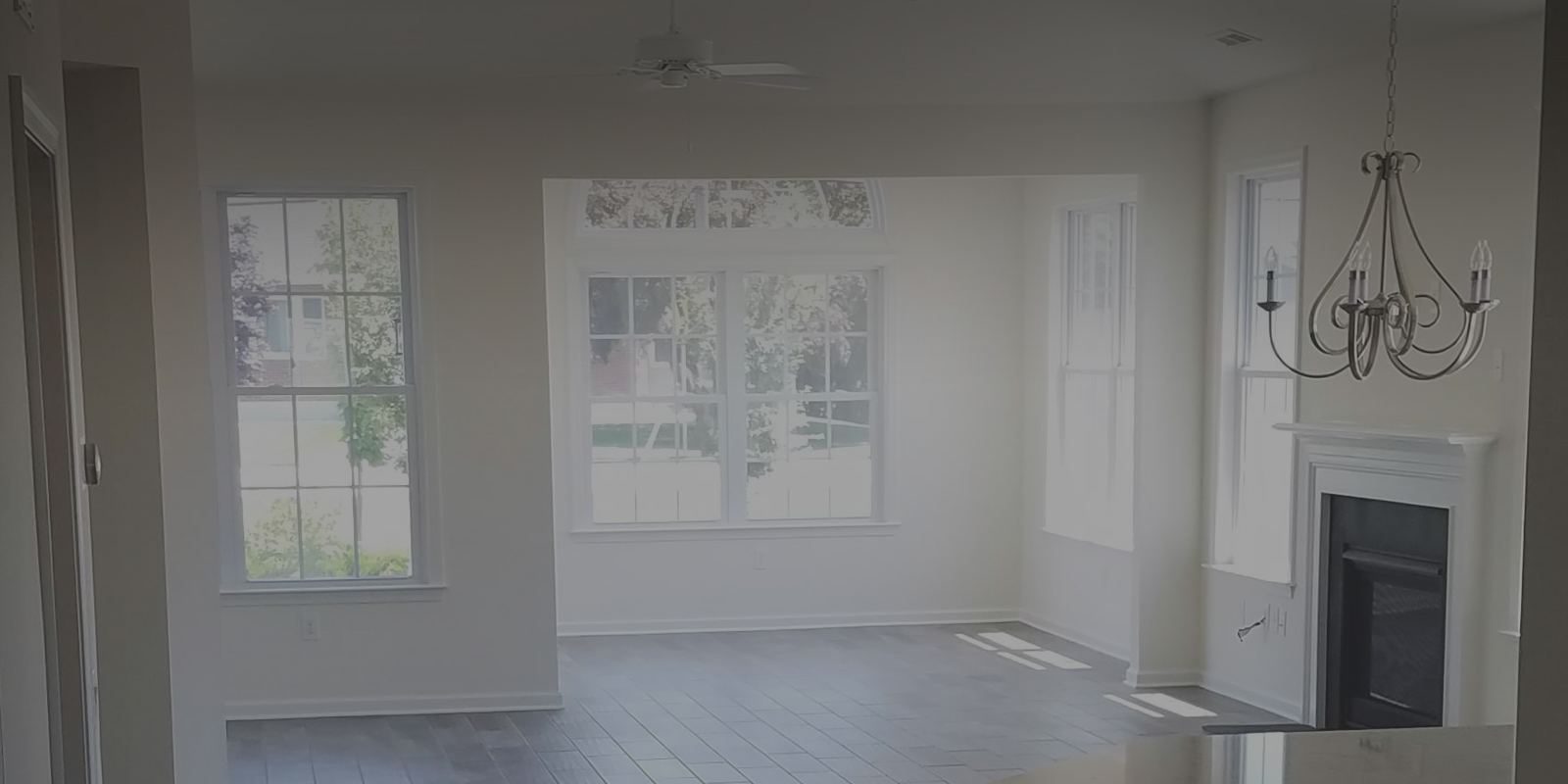 White Painted Room With Windows